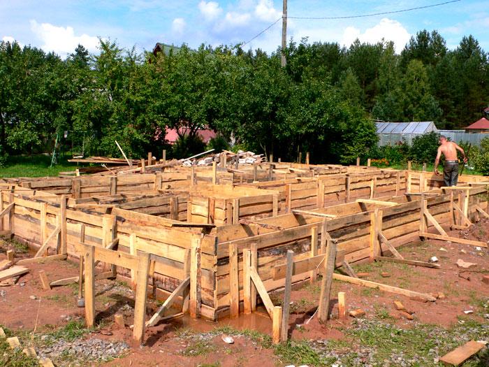 Фотоотчет строительства бани из бруса в дер. Белая. Строительство