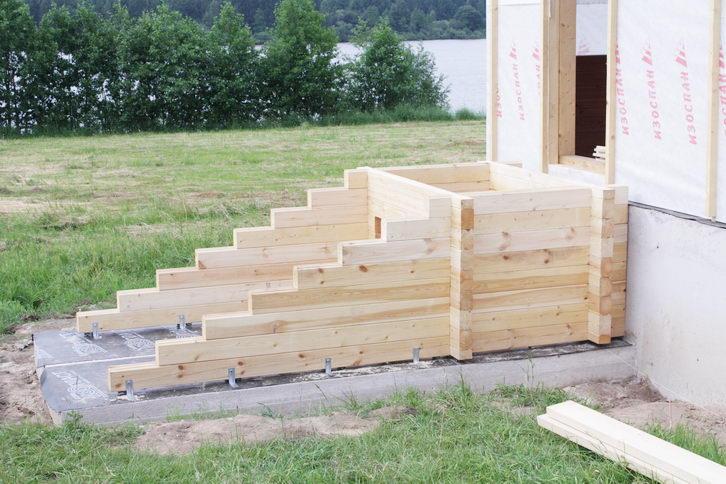 Как сделать деревянную ступеньку для крыльца 179